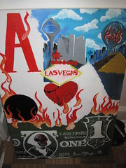 Scrapped Painting (Bre.One) Tags: street vegas money paris art philadelphia collage painting cards bill heart lasvegas flames ace bre canvas poker dollar philly dollarbill breone brespainting