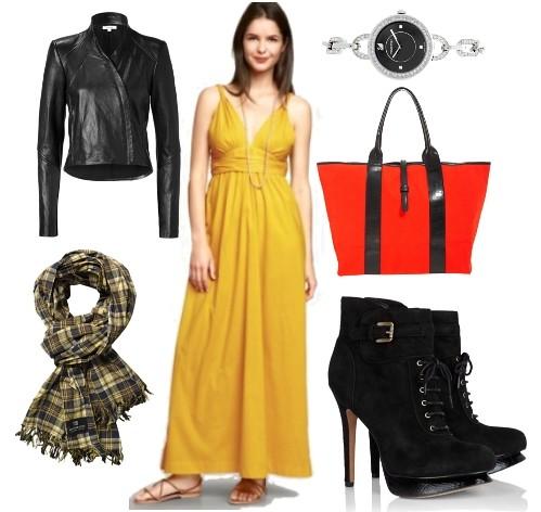 how to wear twist maxi dress in fall