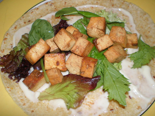 Cumin-Seared Tofu Wrap