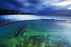 Bronte Beach Pool (-yury-) Tags: ocean longexposure morning sea seascape storm beach nature pool clouds sunrise landscape sydney australia nsw bronte