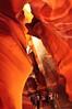 Standing in awe as the light sunbeams begin to show (swazileigh/ Langman Lightscapes) Tags: light arizona waterfall heart sunbeam sunray lakepowell antelopecanyon pagearizona liquidsunshine upperantelopecanyon sandfall antelopeslotcanyons snakecanyon