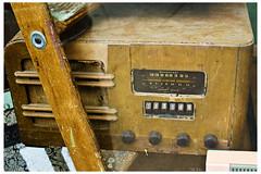 Short Wave Radio (swanksalot) Tags: wood broadcast radio 35mm vintage airline division shortwave swanksalot sethanderson