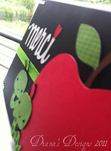 Teacher Appreciation Card - Worm and Apple