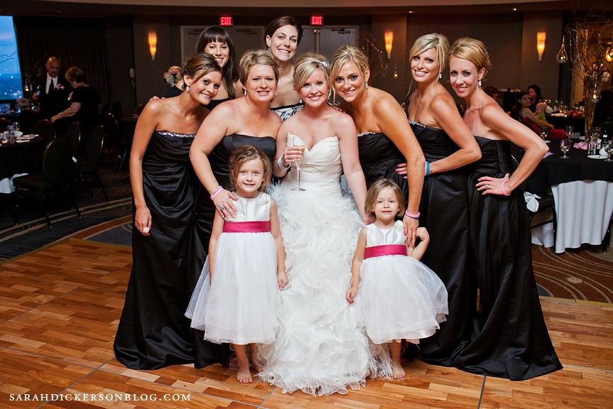 Crowne Plaza Kansas City wedding reception images
