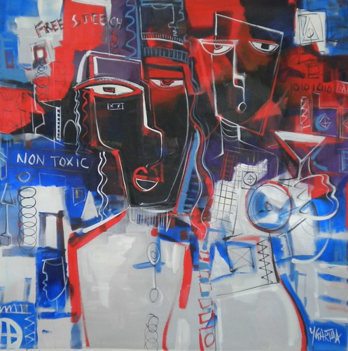 The Conference           100cm x 100cm