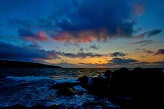 Sunset over the rocks (rob_mank) Tags: sunset sea sky sun seascape beach landscape nikon rocks cornwall vibrant stives porthmeor 1024 d90 nikon1024mm