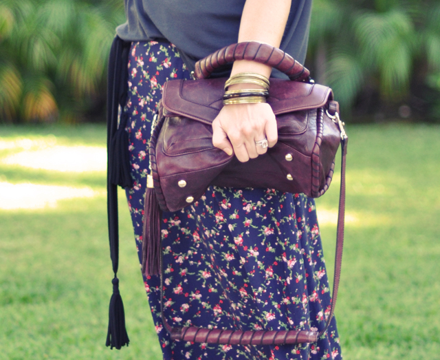 bangles and bag and tassels