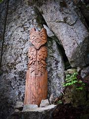 Angel's Crest, 5.10c, Squamish - Totem after pitch 10 (Karsten Klawitter) Tags: june climb bc britishcolumbia adventure climbing granite rockclimbing westcoast squamish trad 2011 multipitch angelscrest thisiswhatilivefor 510b squamishbritishcolumbia