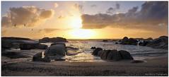 Maiden's Cove Beach Sunset (Panorama Paul) Tags: sunset panorama maidenscove awesomeclouds nohdr sigmalenses nikfilters nikond300 wwwpaulbruinscoza paulbruinsphotography