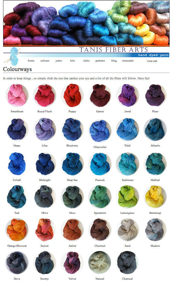 Tanis Fiber Arts Colours