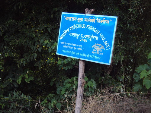 BASE Child Friendly Village (CFV) Signpost in Burigaun VDC, Bardiya District  Photo by: Maelanny P