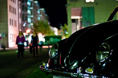 VW Kfer (Michad90) Tags: city people car vw night volkswagen 50mm lights nikon dof bokeh german nikkor karlsruhe kfer d90