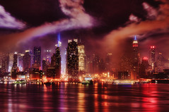 New York City (mudpig) Tags: nyc newyorkcity longexposure people ny newyork skyline night geotagged boat newjersey haze cityscape smoke nj nypd newyorker timessquare esb bankofamerica fourthofjuly macys hudsonriver empirestatebuilding gothamist spectators july4th independenceday hdr julyfourth 42ndstreet newyorkerhotel newyorktimesbuilding policeboat newyorkpolicedepartment mudpig stevekelley 1penn onepenn stevenkelley