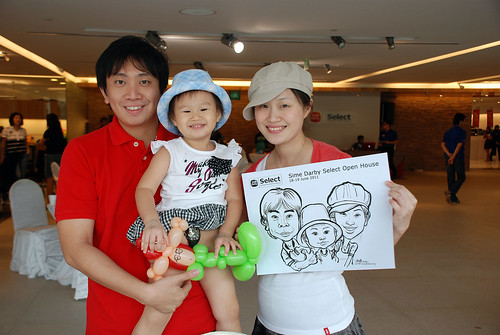 Caricature live sketching for Sime Darby Select Open House Day 1 - 8