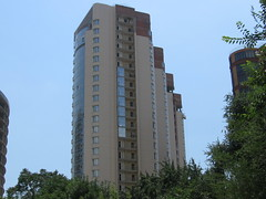 Rostov-City Towers UC (Phnom) Tags: new city blue windows urban brown building brick tower glass architecture modern high downtown candle apartment russia south centre towers business elite don tall residential underconstruction highrises glassy rostov rostovondon publichousing rostovnadonu highestpoint businesscentre toppedout rostovcity publicblock