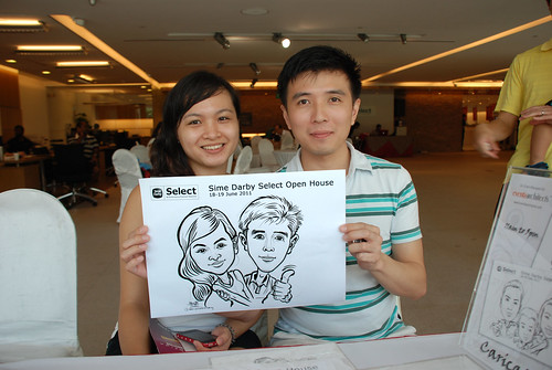Caricature live sketching for Sime Darby Select Open House Day 2 - 12