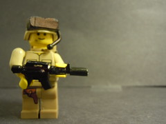 My new Modern Marine! (superpieguy) Tags: army lego helmet microphone marines holster mch brickarms