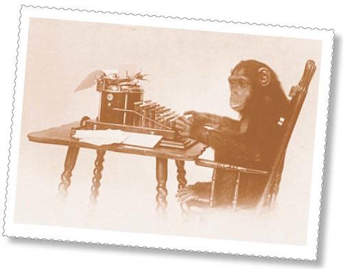 Monkey and typewriter