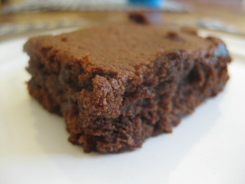 Fudgey Mexican cocoa brownie