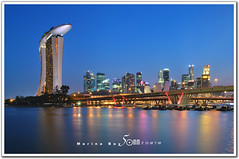 singapore (fiftymm99) Tags: show park bridge reflection building skyline river one hotel boat nikon singapore day fireworks rehearsal parade celebration national land ndp cbd fullerton merlion performances ntuc chartered d300 uob maybank