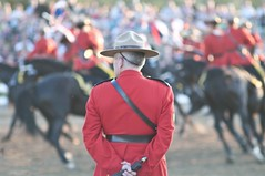 The Master Watches (Tawaw) Tags: horses canada flag ottawa police rcmp equestrian stetson mounties mountedpolice royalcanadianmountedpolice policehorses musicalride redserge canadianpolicecollege