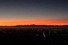 Sunset (geraldlim89) Tags: road new sunset red christchurch sky cloud sun alps port lights volcano nikon long exposure hill hills southern zealand ash volcanic d7000