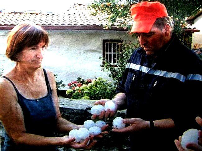 grêle dans le Pays Basque mi juillet 2003 météopassion