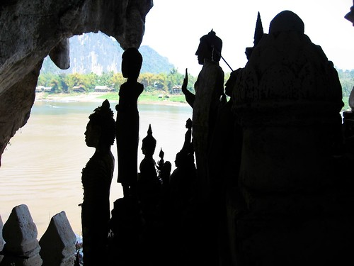 Cave with Buddhas, Laos