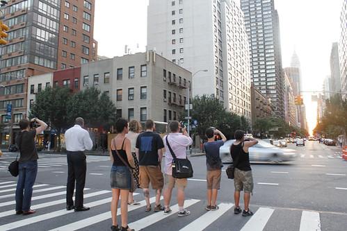 Manhattanhenge paparazzi!