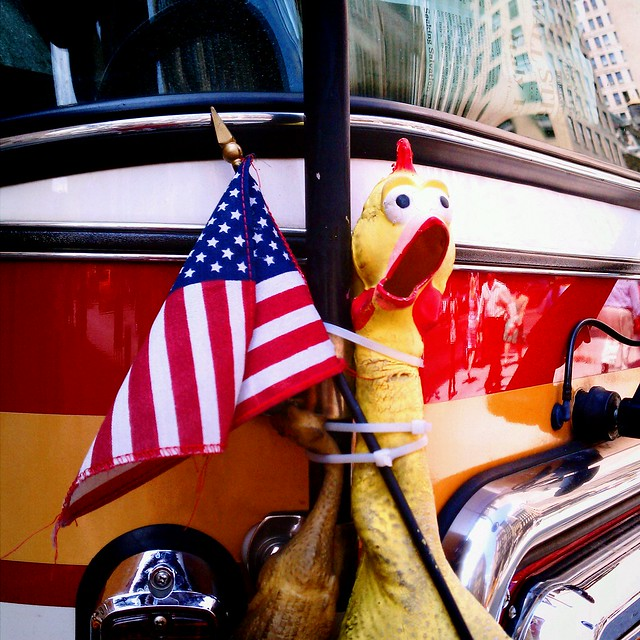 American fire chicken flag