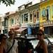 Myriam, Mathias e Mi a caminho da Rua Arabe
