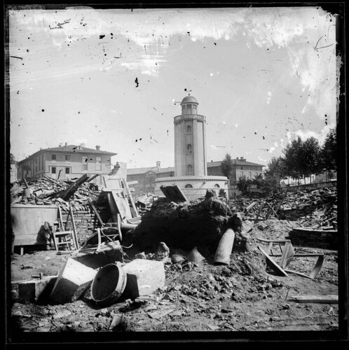 Inondations de 1875, place Laganne