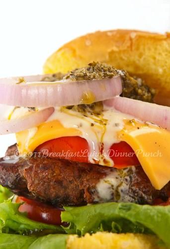 closeup hambuger