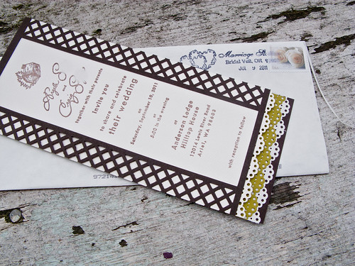 My Very First Fully Designed Wedding Invitation