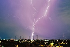 Close, but no double strike (NicLeister) Tags: arizona storm phoenix desert pentax k1000 monsoon thunderstorm lightning kodakektar100 arizonathunderstorms yahoo:yourpictures=storms yahoo:yourpictures=elements yahoo:yourpictures=landscape