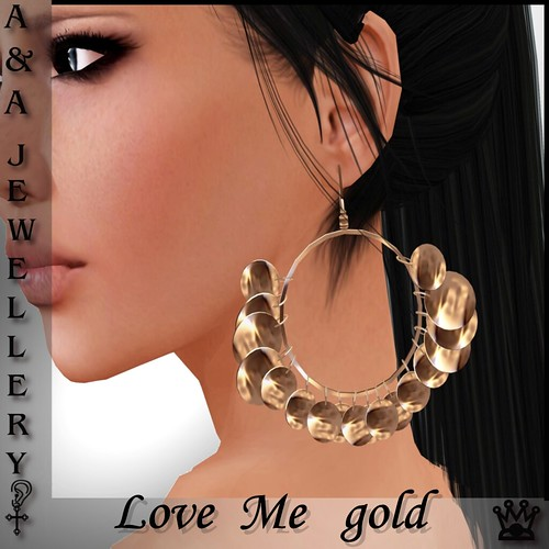 A&Ana Earrings [love me] gold