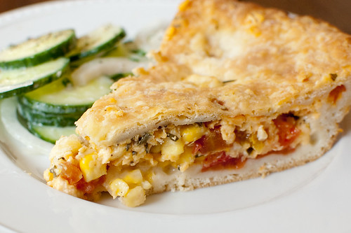 Pink Parsley: Tomato & Corn Pie