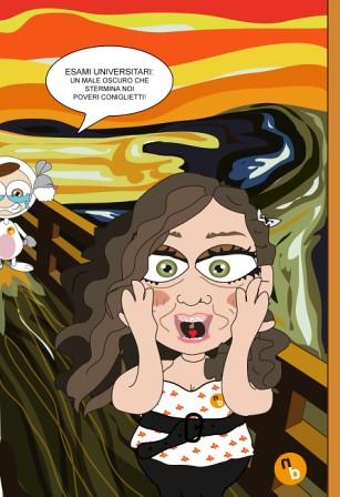l'urlo-Munch-Elena e bunny by NorisBunny