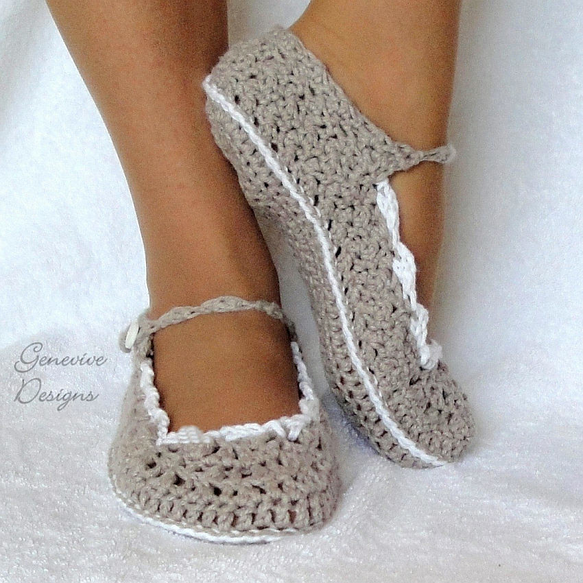 Tutorial Crochet Baby Ballet Booties : The Worlds Best Photos by Genevive_Too - Flickr Hive Mind