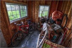 Time To Clean Out The Shed - HDR/Tone-Mapped (jwvraets) Tags: nikon shed gimp cleanup 1224mm hdr luminance tonemapped d5000 qtpfsgui
