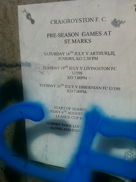 Craigroyston vs Hibs and other games