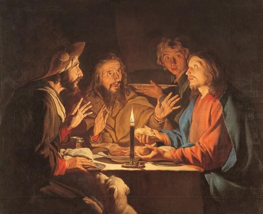 Matthias Stomer, Le repas d'Emmaüs