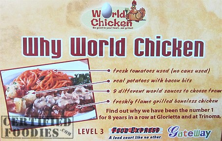 Reasons why you should choose  World Chicken, too - CertifiedFoodies.com