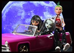 Cleo, Frankie and Deuce (DollsinDystopia) Tags: doll dolls mattel frankiestein monsterhigh deucegorgon cleodenile dayatthemaul