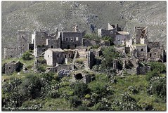 old village in east mani (taxydromos69) Tags: greek ruins village mani east greece hilltop peloponnisos vathia