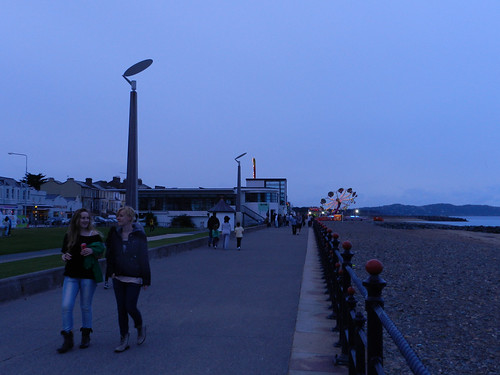 Saturday evening on the Seafront, before the gig