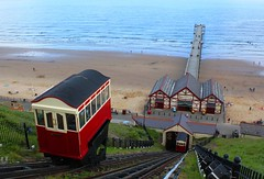 ups and downs (nuframe) Tags: uk sea cliff beach up coast pier seaside sand yorkshire north transport victorian railway down tramway saltburn saltburnbythesea summer11 nuframe