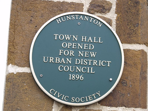 Town Hall - Hunstanton - Tourist Information - Green Plaque