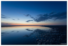 reflection (picture 4B) Tags: longexposure blue light sunset sea sky sun reflection colors clouds strand germany landscape deutschland meer sonnenuntergang wolken sigma sonne nordsee spiegelung landschaften abendsonne langzeitbelichtung stpeterording blauestunde a580 mygearandme mygearandmepremium mygearandmebronze ringexcellence