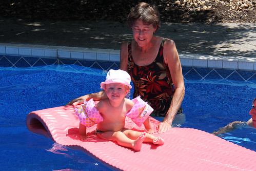 Swimming with Grandma and Grandpa